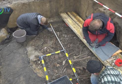 Középső bronzkori tömegsírt tártak föl